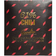Goodio Chili 61% -raakasuklaa, 48g